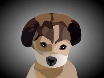 Puppy - Blockshade by Crownverry