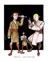 Hank, Dean and Master Obi-Wan by Hodges-Art
