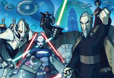 SWCV Clone Wars Poster VILLAIN by Hodges-Art