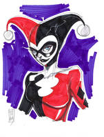 Harley Quinn Warm Up Sketch by Hodges-Art