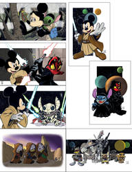 Star Wars/Disney Mash Ups  so far... by Hodges-Art