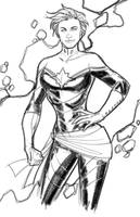 WIP: Captain Marvel by Hodges-Art