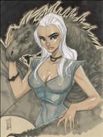 Khaleesi Daenerys Targaryen, Mother of Dragons by Hodges-Art