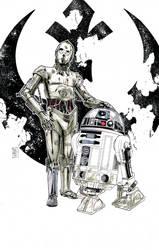 Artoo and Threepio by Hodges-Art