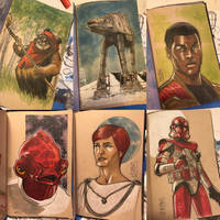 The Star Wars Sketch Book 09 by Hodges-Art