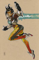 Tracer from OVERWATCH by Hodges-Art