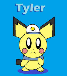 Tyler the Pichu (Pokemon OC) by BlairWitch9