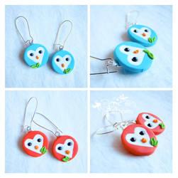 Heart owls earrings by caithness-shop