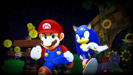 Mario and Sonic Adventure by Hesei-Pikmin