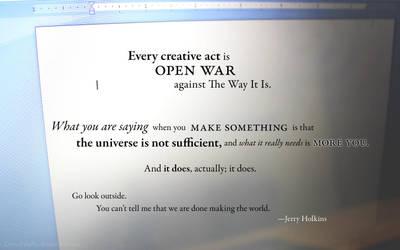 Every creative act by DawnPaladin