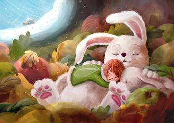 A fluffy sleep by Ansheen