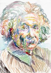 Albert Einstein by MarinaSotiriou