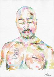 Tupac Shakur by MarinaSotiriou