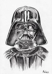 Darth Vader Watercolor by MarinaSotiriou