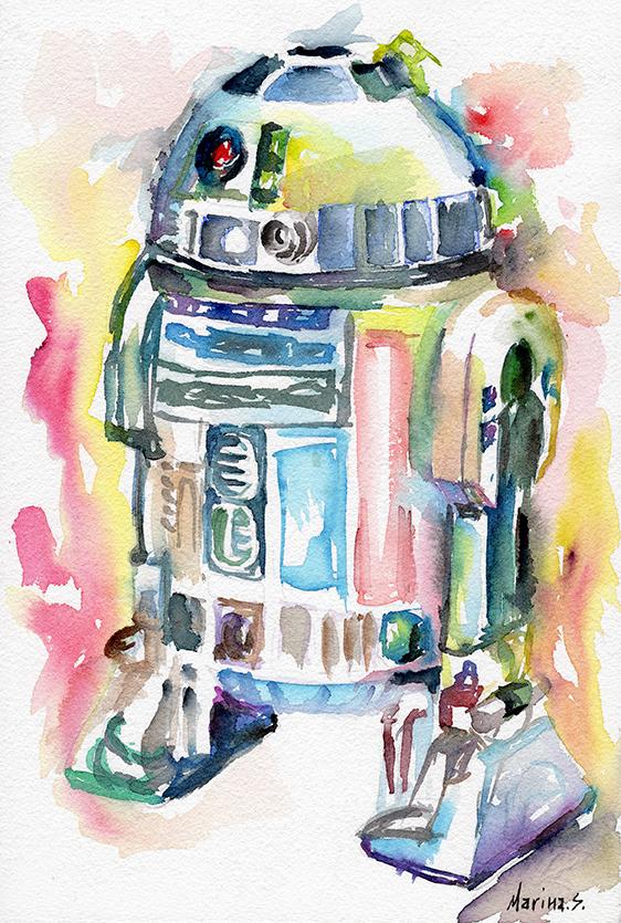 R2D2 by MarinaSotiriou
