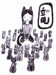 25 and 1 kittens by diabol