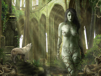 Witherfang, Lady of the Forest by RottenRagamuffin
