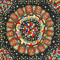 Doodle mandala Night Sky by fesleen