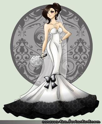 Final Fantasy Wedding: Tifa by alohanaa