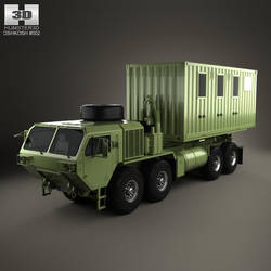 Oshkosh HEMTT M1120A4 Load Handling System Truck by humster3d