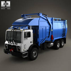 Mack TerraPro Garbage Truck by humster3d