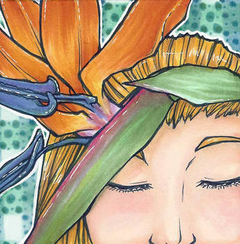 Bird of Paradise Girl by Doodlebotbop