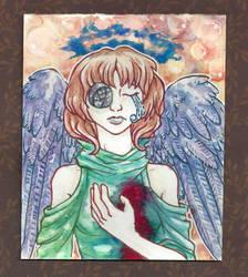 Bleeding heart girl by Doodlebotbop