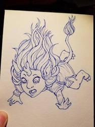 Unicorn Falling by Doodlebotbop