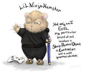 Evil Ninja Hamster by gusdefrog