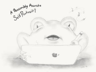 Self Portrait Frog by gusdefrog