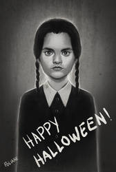 Wednesday Addams by Polinhahart