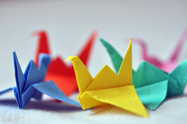 The thousand paper cranes challenge by VickiH