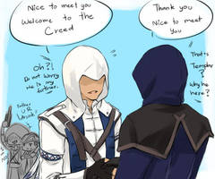 :AC: Greeting a new Brother ! by PrinceOfRedroses