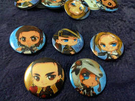 :AC: Assassin's Creed buttons set A preview by PrinceOfRedroses