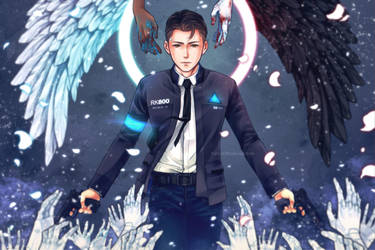 [D:BH] RK800-Connor:Choose your side by PrinceOfRedroses