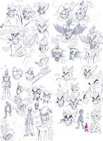 Crash Sketch Collection by Strixic