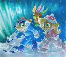 A Snowy Crashmas Night by Strixic