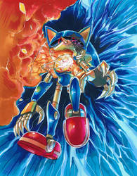 Metal Sonic's Fall by Strixic