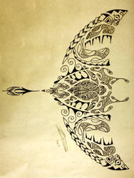 Polynesian Manta Ray/Turtle by A18cey