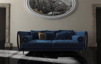 Sipario sofa from Arredoclassic 3D model by viiik33