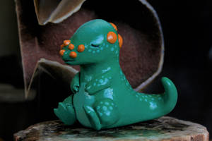 Custom Painted Sleepy Pachycephalosaurus by MiniMynagerie