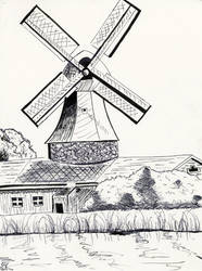 Windmill by Rosefeather333