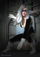 Black Cat by donnaDomenitzo