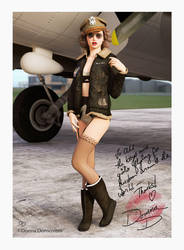Bomber Girl Pinup by donnaDomenitzo