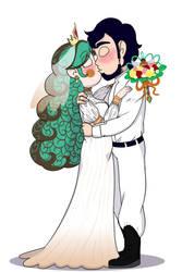 Titania and Oberon Wedding Attire by Tsukinekoi