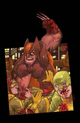 Wolverine and Hydra by ANDYTAYLOR-GARBAGE