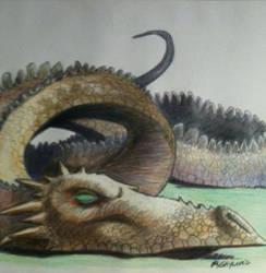 green eyed dragon by bostonb63