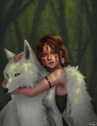Princess Mononoke by Anadia-Chan