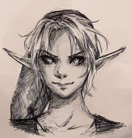 Dark Link Sketch by Anadia-Chan