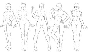 Pose Set #3 Standing Poses Female by Anadia-Chan